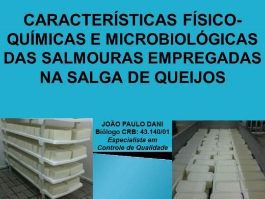 Curso Online de CARACTERISTICAS FISICO-QUIMICO E MICROBIOLOGICAS EM SALMOURAS EMPREGADAS NA SALGA DE QUEIJOS