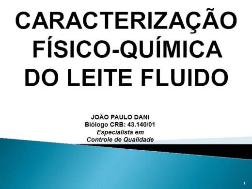 Curso Online de CARACTERIZAÇÃO FÍSICO-QUÍMICA  DO LEITE FLUIDO