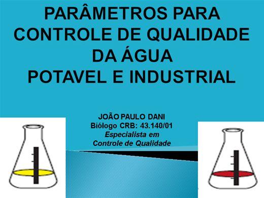 Curso Online de PARÂMETROS PARA CONTROLE DE QUALIDADE DA ÁGUA POTAVEL E INDUSTRIAL