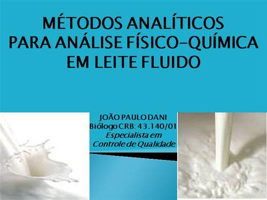 Curso Online de MÉTODOS ANALITICOS PARA ANÁLISE FÍSICO-QUÍMICA EM LEITE FLUIDO