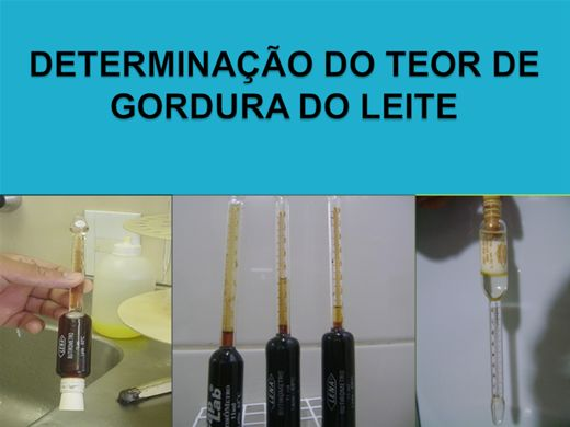 Curso Online de DETERMINAÇÃO DO TEOR DE GORDURA DO LEITE