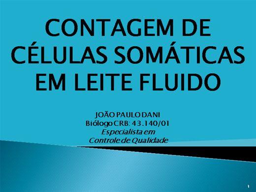 Curso Online de CONTAGEM DE CELULAS SOMATICAS NO LEITE FLUIDO