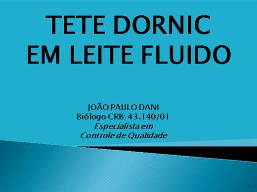 Curso Online de DETERMINAÇÃO DO TESTE DORNIC EM LEITE FLUIDO