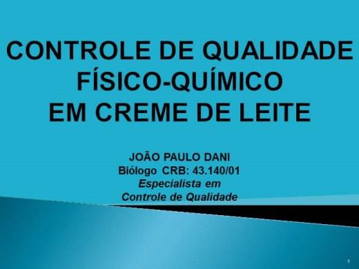 Curso Online de CONTROLE DE QUALIDADE FÍSICO-QUÍMICO EM CREME DE LEITE