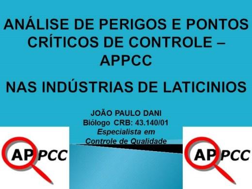 Curso Online de ANALISE DE PERIGOS  E PONTOS CRITICOS DE CONTROLE - APPCC -  NAS INDUSTRIAS DE LATICINIOS