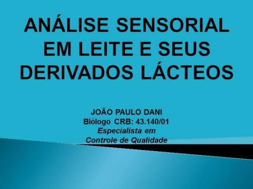 Curso Online de ANÁLISE SENSORIAL EM LEITE E SEUS DERIVADOS LÁCTEOS