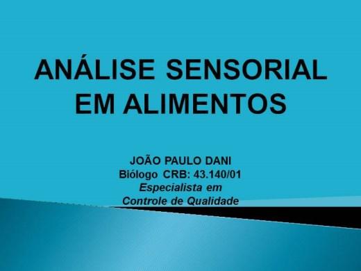 Curso Online de ANÁLISE SENSORIAL EM ALIMENTOS