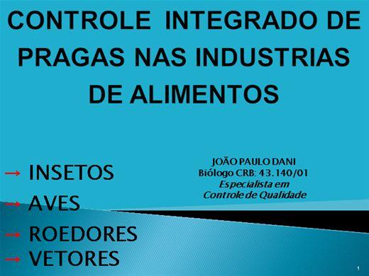 Curso Online de CONTROLE  INTEGRADO DE PRAGAS NAS INDUSTRIAS DE ALIMENTOS