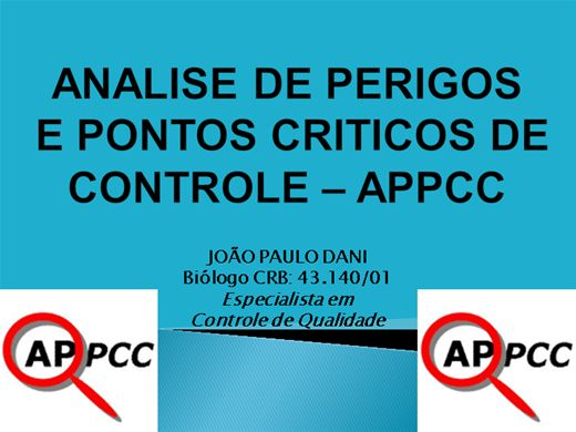 Curso Online de ANALISE DE PERIGOS E PONTOS CRITICOS DE CONTROLE - APPCC