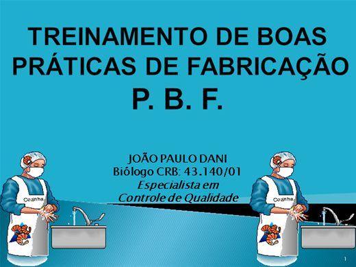 Curso Online de TREINAMENTO DE BOAS PRÁTICAS DE FABRICAÇÃO - BPF