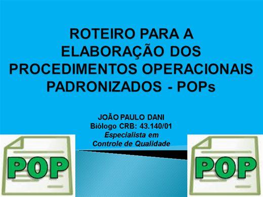 Curso Online de ROTEIRO PARA A ELABORAÇÃO DOS PROCEDIMENTOS OPERACIONAIS PADRONIZADOS - POPs