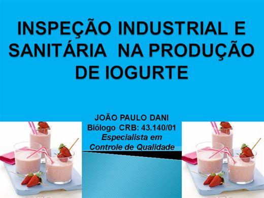 Curso Online de INSPEÇÃO INDUSTRIAL E SANITARIA  NA PRODUÇÃO DE IOGURTE