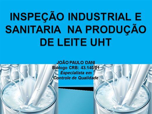 Curso Online de INSPEÇÃO INDUSTRIAL E SANITARIA  NA PRODUÇÃO DE LEITE UHT