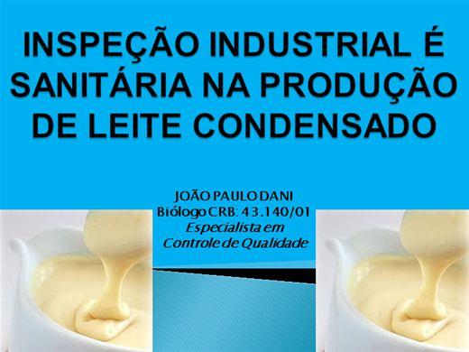 Curso Online de INSPEÇÃO INDUSTRIAL É SANITÁRIA NA PRODUÇÃO DE LEITE CONDENSADO