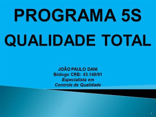 Curso Online de PROGRAMA 5S - QUALIDADE TOTAL