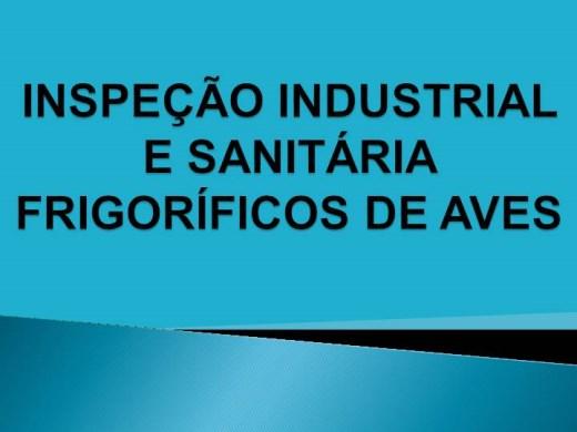 Curso Online de INSPEÇÃO INDUSTRIAL  E SANITÁRIA  EM FRIGORÍFICOS DE AVES