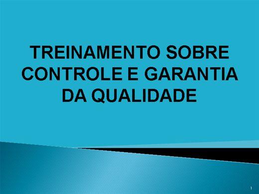 Curso Online de TREINAMENTO SOBRE CONTROLE E GARANTIA DE QUALIDADE