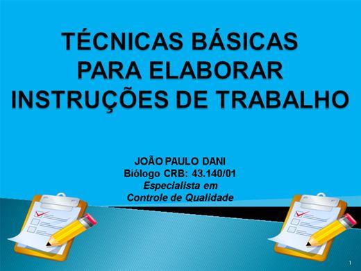 Curso Online de OS PRINCIPAIS PASSOS PARA ELABORAR  INSTRUÇÃO DE TRABALHO - IT