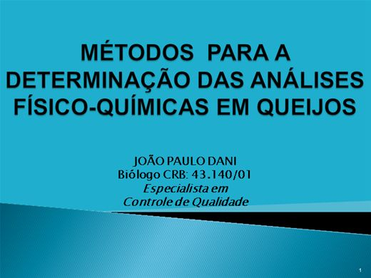 Curso Online de DETERMINAÇÃO DAS ANÁLISES-FÍSICO-QUÍMICAS EM QUEIJOS