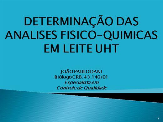 Curso Online de DETERMINAÇÃO DAS ANALISES FISICO-QUIMICAS EM LEITE UHT