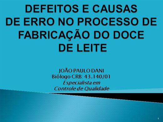 Curso Online de DEFEITOS E CAUSAS DE ERRO NO PROCESSO DE FABRICAÇÃO DO DOCE DE LEITE