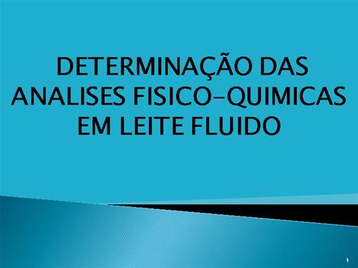 Curso Online de DETERMINAÇÃO DAS ANÁLISES-FÍSICO-QUÍMICAS EM  LEITE FLUIDO