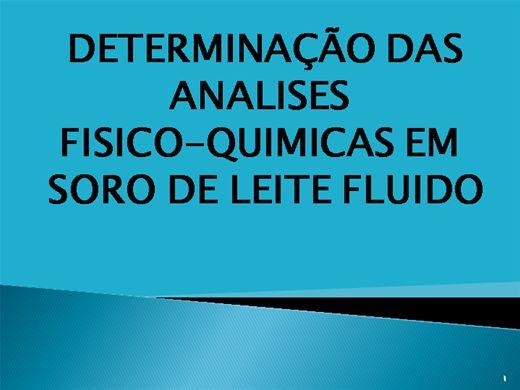 Curso Online de DETERMINAÇÃO DAS ANÁLISES-FÍSICO-QUÍMICAS EM SORO DE LEITE FLUIDO