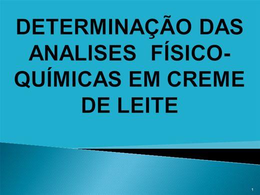 Curso Online de DETERMINAÇÃO DAS ANALISES  FÍSICO-QUÍMICAS EM CREME DE LEITE