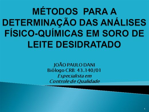 Curso Online de DETERMINAÇÃO DAS ANÁLISES-FÍSICO-QUÍMICAS EM SORO  DE LEITE DESIDRATADO