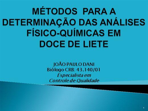 Curso Online de DETERMINAÇÃO DAS ANÁLISES-FÍSICO-QUÍMICAS EM DOCE DE LEITE