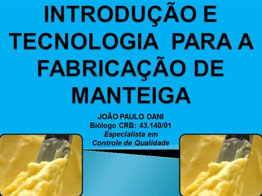 Curso Online de INTRODUÇÃO E TECNOLOGIA PARA A FABRICAÇÃO DE MANTEIGA