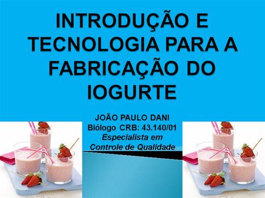 Curso Online de INTRODUÇÃO E TECNOLOGIA PARA A FABRICAÇÃO DO IOGURTE