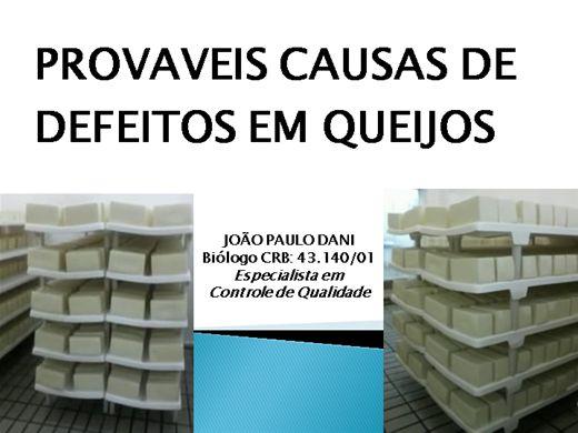 Curso Online de PROVAVEIS CAUSAS DE DEFEITOS EM QUEIJOS