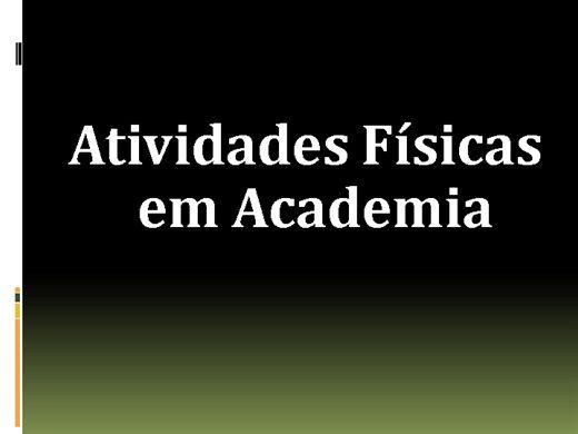 Curso Online de ATIVIDADES FISICAS EM ACADEMIAS
