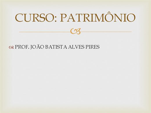 Curso Online de Curso de Patrimônio (relacionado a História)