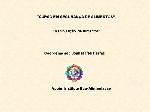 Curso Online de MANIPULAÇÃO ALIMENTOS