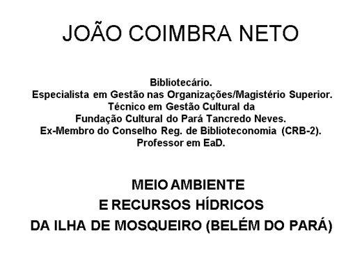 Curso Online de MEIO AMBIENTE E RECURSOS HÍDRICOS DA ILHA DE MOSQUEIRO (BELÉM DO PARÁ)