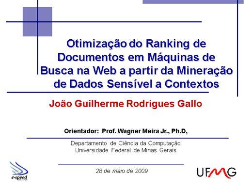 Curso Online de Mineração de Dados para Otimização de Resultados em Mecanismos de Buscas na Internet