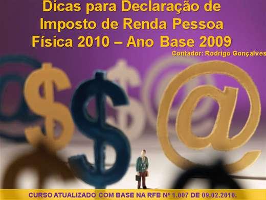 Curso Online de Imposto de Renda IRPF 2010