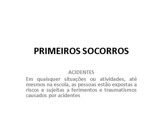 Curso Online de NOÇÕES DE PRIMEIROS SOCORROS