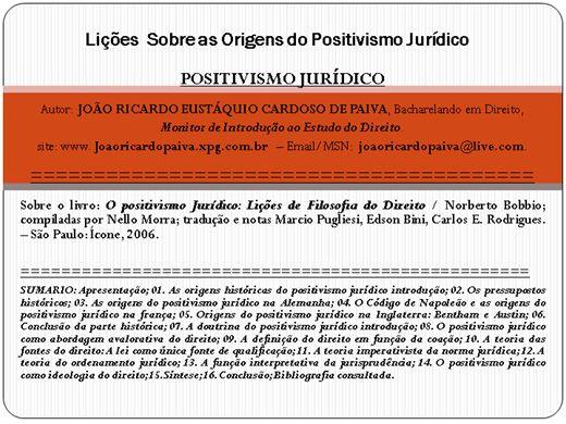 Curso Online de Positivismo Jurídico
