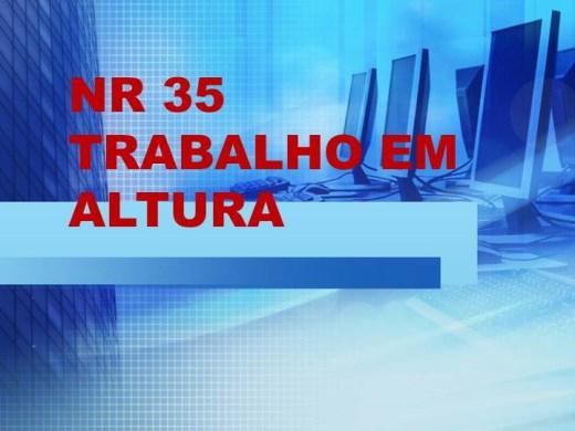Curso Online de NR 35 TRABALHO EM ALTURA.