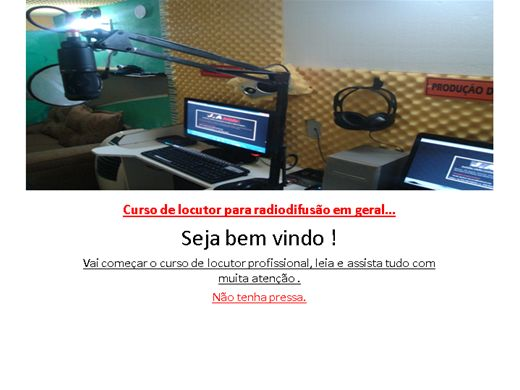 Curso Online de Curso de Locutor - Seja Um Profissional Em Comunicação !