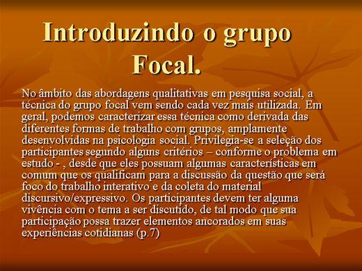 Curso Online de Grupo focal em Pesquisa