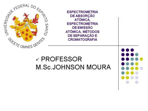 Curso Online de Espectrometria de Absorção e Emissão Atômica - Métodos de Separação e Cromatografia