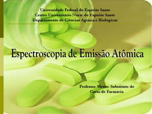 Curso Online de Espectroscopia de Emissão Atômica