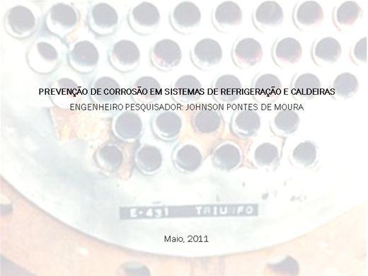 Curso Online de PREVENÇÃO DE CORROSÃO EM SISTEMAS DE REFRIGERAÇÃO E CALDEIRAS