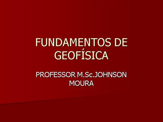 Curso Online de FUNDAMENTOS DE GEOFÍSICA