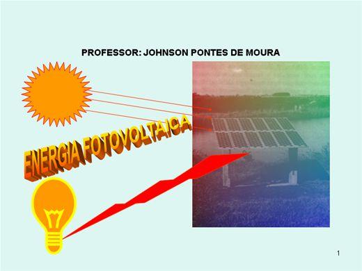 Curso Online de APROVEITAMENTO DA ENERGIA FOTOVOLTAICA