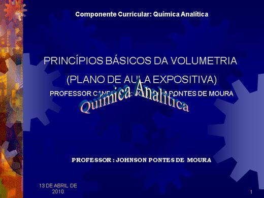 Curso Online de PRINCÍPIOS BÁSICOS DA VOLUMETRIA